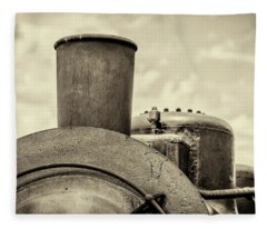 Fleece Blanket featuring the photograph Steam Train Series No 2 by Clare Bambers