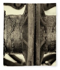 Fleece Blanket featuring the photograph Steam Train Series No 31 by Clare Bambers