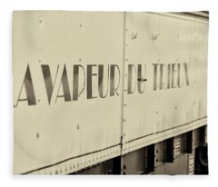 Fleece Blanket featuring the photograph Steam Train Series No 34 by Clare Bambers
