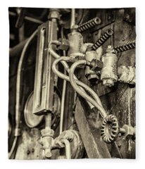 Fleece Blanket featuring the photograph Steam Train Series No 36 by Clare Bambers