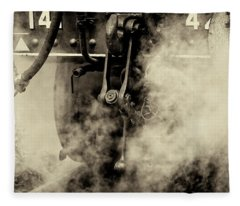 Fleece Blanket featuring the photograph Steam Train Series No 4 by Clare Bambers