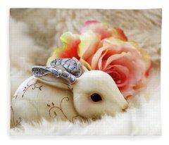 Steampunk Bunny  Fleece Blanket