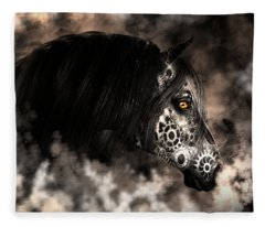Steampunk Champion Fleece Blanket