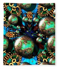 Steampunk Fractal 71216.4 Fleece Blanket