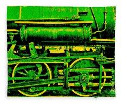 Steampunk Iron Horse No. 3 Fleece Blanket