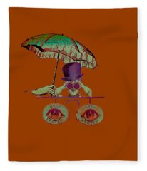 Steampunk T Shirt Design Fleece Blanket
