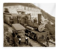 Stean Engine No. 8 Mount Tamalpais Circa 1920 Fleece Blanket