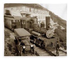 Stean Engine No. 8 Mount Tamalpais Circa 1920 Fleece Blanket