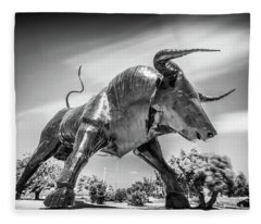 Steel Bull, Torrevieja, Spain Fleece Blanket