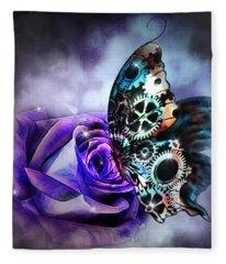 Steel Butterfly Fleece Blanket
