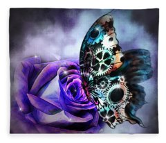 Steel Butterfly Fleece Blanket