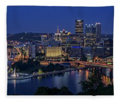 Steel City Glow Fleece Blanket