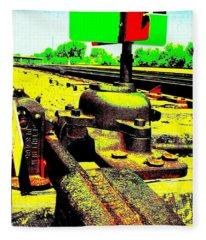 Steel Diesel Track Signal Fleece Blanket