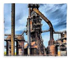 Steel Stacks Bethlehem Pa. Fleece Blanket