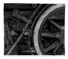 Steel Wheels In Monochrome Fleece Blanket