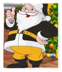Steelers Santa Claus Fleece Blanket