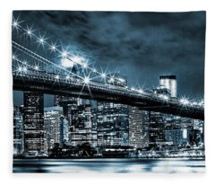 Steely Skyline Fleece Blanket