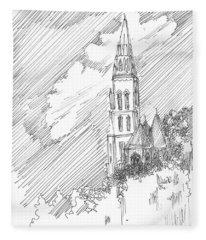 Steeple Of A Church Fleece Blanket