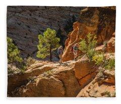 Steeply Up The Canyon Fleece Blanket