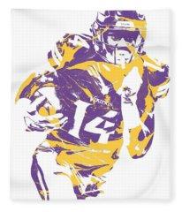 Stefon Diggs Minnesota Vikings Pixel Art 2 Fleece Blanket