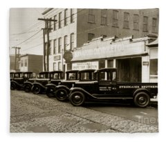 Stegmaier Brothers Inc Beer Trucks At 693 Hazle Ave Wilkes Barre Pa 1930s Fleece Blanket