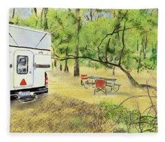 Stephen C. Foster Campground  Fleece Blanket