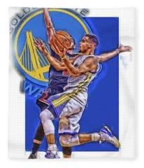 Stephen Curry Golden State Warriors Oil Art Fleece Blanket