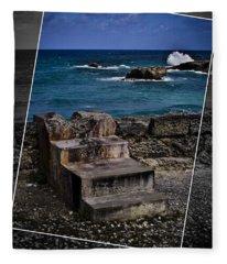 Steps To The Ocean2 Fleece Blanket