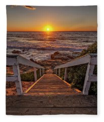 Steps To The Sun  Fleece Blanket