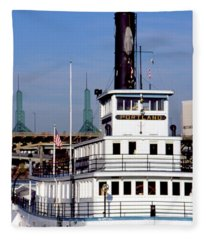 Sternwheeler, Portland Or  Fleece Blanket