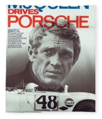 Steve Mcqueen Drives Porsche Fleece Blanket
