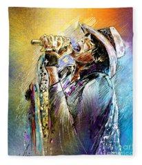 Steven Tyler 01  Aerosmith Fleece Blanket