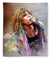 Steven Tyler 02  Aerosmith Fleece Blanket