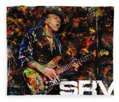 Stevie Ray Fleece Blanket