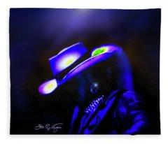 Stevie Ray Vaughan -  Superstition  Fleece Blanket