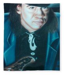 Stevie Ray Vaughn Fleece Blanket