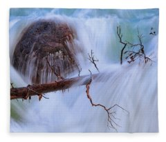 Fleece Blanket featuring the photograph Sticks And Stones by Rick Furmanek