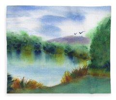 Still Lake Fleece Blanket