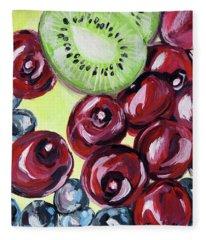 Still Life 130. Cherries Fleece Blanket