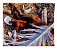 Still Life At Beach 2015 Fleece Blanket
