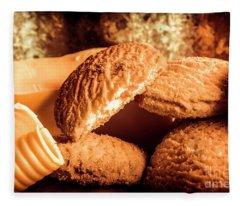 Still Life Bakery Art. Shortbread Cookies Fleece Blanket