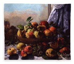 Still Life, Fruit, 1871 Fleece Blanket
