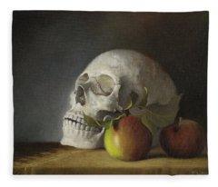 Still Life With Skull Fleece Blanket
