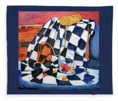 Still Life With Squares Fleece Blanket