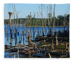 Still Wood - Manasquan Reservoir Fleece Blanket
