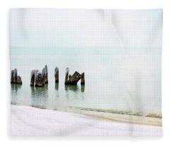 Stillness In The Mist Fleece Blanket