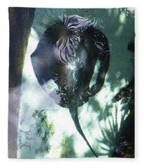 Stingray Swim V Fleece Blanket