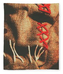 Stitched Up Madness Fleece Blanket