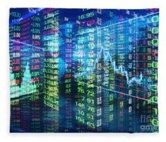 Stock Market Concept Fleece Blanket