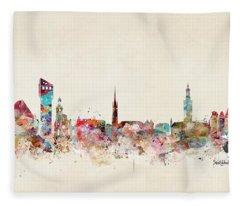 Stocklholm Sweden Skyline Fleece Blanket